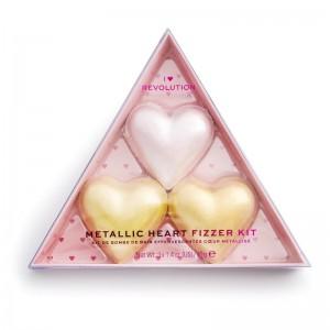I Heart Revolution - Badezusatz - Metallic Heart Fizzer Kit