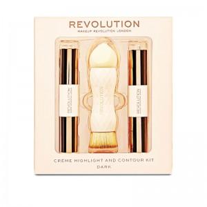 Makeup Revolution - Makeup Set - Creme Highlight and Contour Kit - Dark