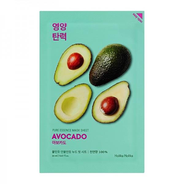 Holika Holika - Gesichtsmaske - Pure Essence Mask Sheet - Avocado