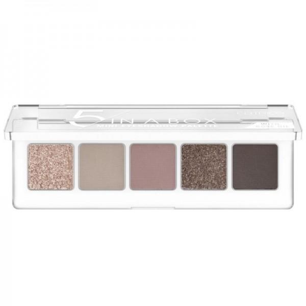 Catrice - Lidschattenpalette - 5 In A Box Mini Eyeshadow Palette - 020 Soft Rose Look