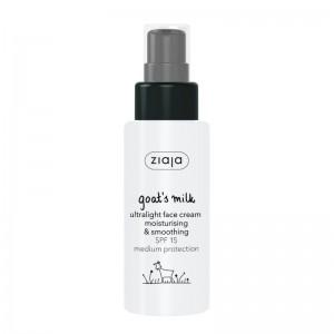 Ziaja - Goats Milk Ultralight Face Cream Moisturising & Smoothing SPF 15