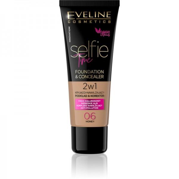 Eveline Cosmetics - Foundation & Concealer - Selfie Time Foundation & Concealer - 06 Honey