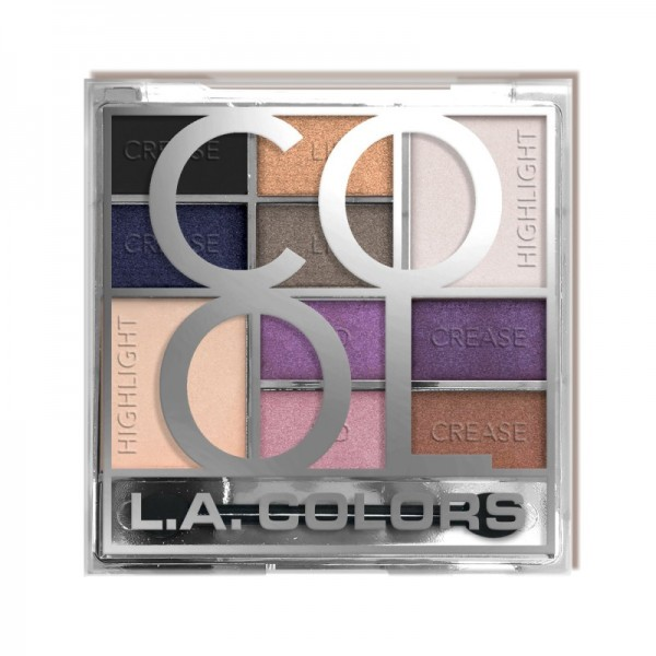 LA Colors - Lidschattenpalette - Color Block Eyeshadow - Cool
