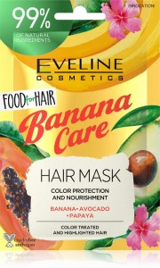 Eveline Cosmetics - Haarmaske - Food For Hair Banana Haarmaske 20ml