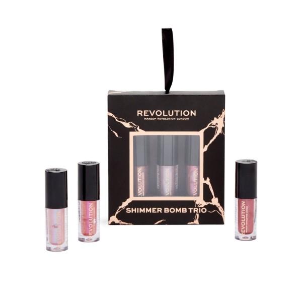 Revolution - Lipgloss Set - Shimmer Bomb Lip Trio Gift Set