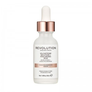 Revolution - Augenpflege - Skincare Targeted Under Eye Serum - 5% Caffeine Solution + Hyaluronic Acid