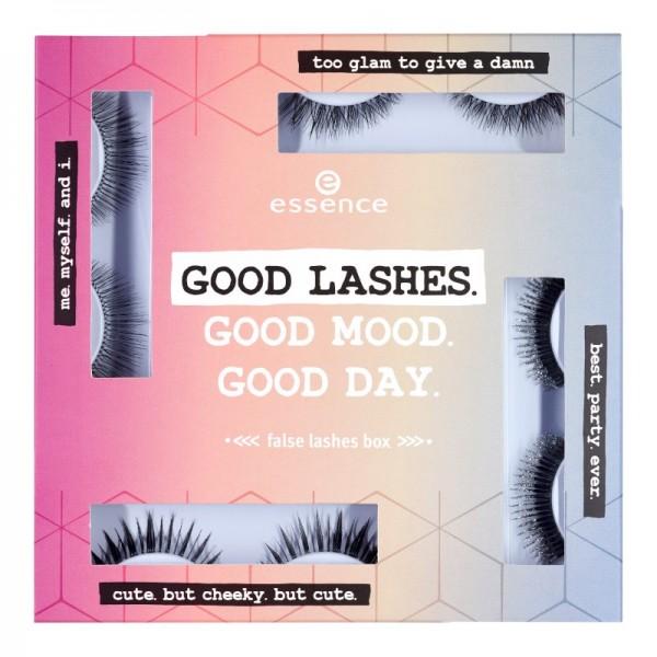 essence - False Eyelashes - online exclusives - good lashes.good mood.good day. false lashes box 01
