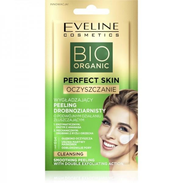 Eveline Cosmetics - Gesichtsmaske - Bio Organic - Perfect Skin Reinigendes + Glättendes Peeling mit