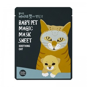 Holika Holika - Gesichtsmaske - Baby Pet Magic Mask Sheet - Cat