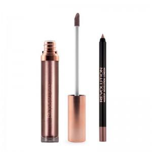 Makeup Revolution - Flüssiger Lippenstift - Retro Luxe Kits Metallic - Dynasty