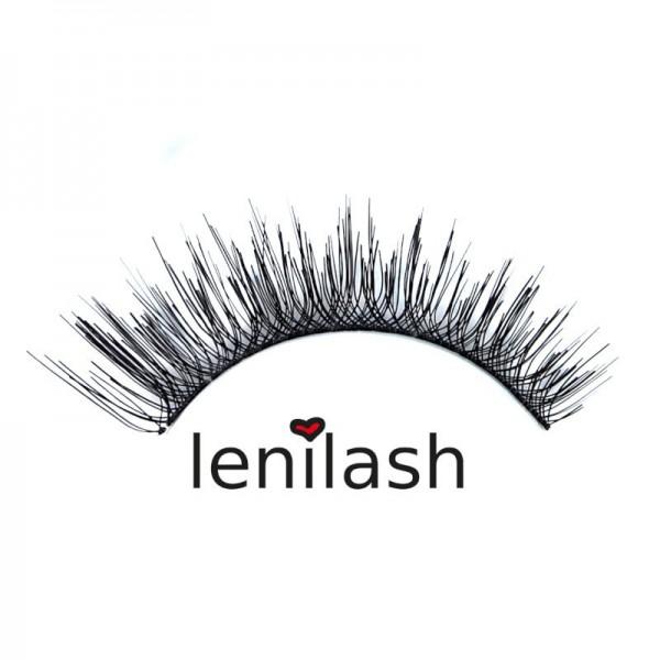lenilash - False Eyelashes - Black - Nr.131 - Human Hair