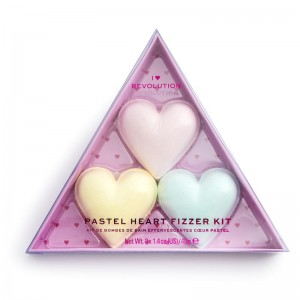 I Heart Revolution - Badezusatz - Pastel Heart Fizzer Kit