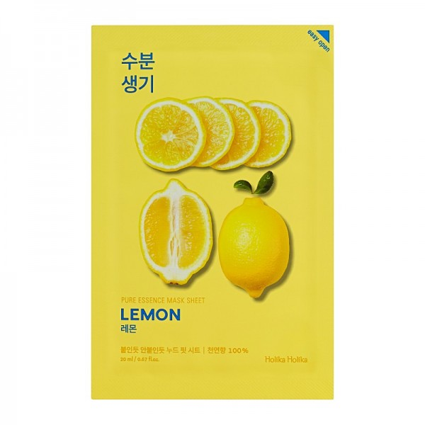 Holika Holika - Gesichtsmaske - Pure Essence Mask Sheet - Lemon