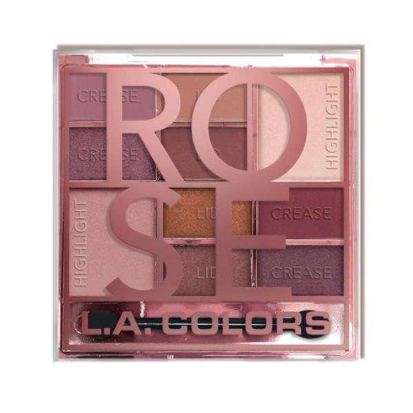 LA Colors - Color Block Eyeshadow Palette - Rose