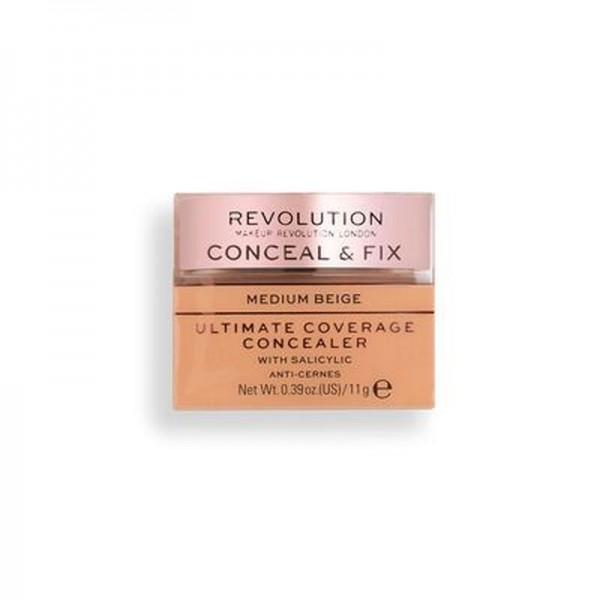 Revolution - Conceal & Fix Ultimate Coverage Concealer - Medium Beige