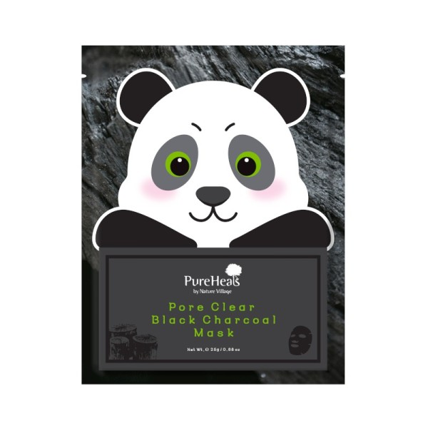 PureHeals - Gesichtsmaske - Pore Clear Black Charcoal Mask