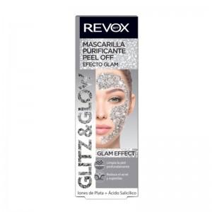 REVOX - Gesichtsmaske - Glitz & Glow Peel Off Mask - Silver