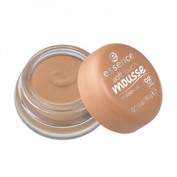 essence - Foundation - soft touch mousse make-up - 02 matt beige