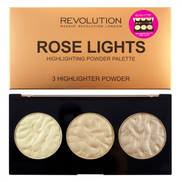Makeup Revolution - Highlighterpalette - Rose Lights
