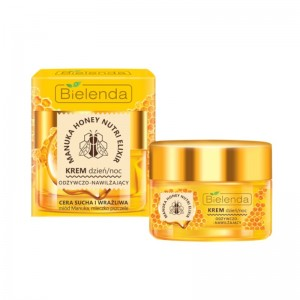 Bielenda - Crema viso - Manuka Honey Nutri Elixir Face Cream Day/Night For Dry And Sensitive Skin