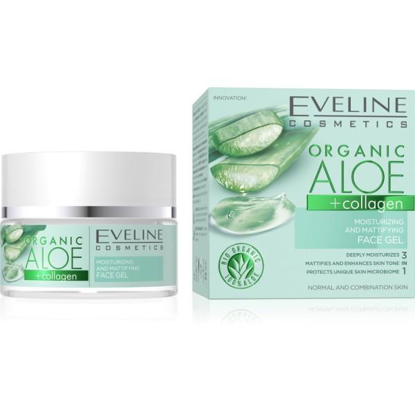 Eveline Cosmetics - Organic Aloe + Collagen Moisturizing and Mattifying Face Gel