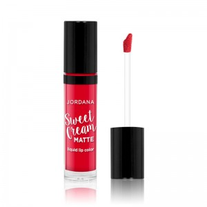 Jordana - Flüssiger Lippenstift - Sweet Cream Matte Lip Color - Cherry Cobbler