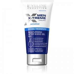 Eveline Cosmetics - After-Shave-Gel - Men X-Treme Sensitive feuchtigkeitsspendendes Gel nach der Ras