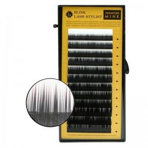 Blink - Schwarze Einzelwimpern - Mixed Mink-Lash - B-Curl - Durchmesser 0,20mm - Längen 7mm- 14mm -