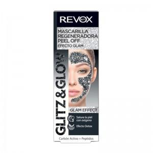 REVOX - Gesichtsmaske - Glitz & Glow Peel Off Mask - Black