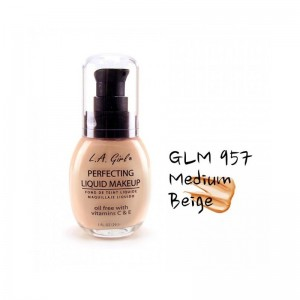 LA Girl - Foundation - Perfecting Liquid Makeup Oil Free - Medium Beige