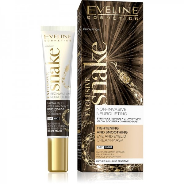 Eveline Cosmetics - Augenmaske - Exclusive Snake Eye And Eyelid Cream-Mask