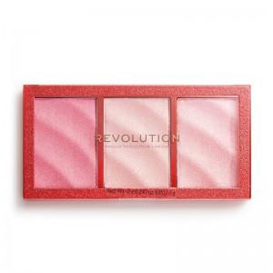 Revolution - Highlighter - Precious Stone Highlighter Palette - Ruby Crush