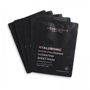 Revolution - Gesichtsmaske - Skincare Hyaluronic Acid Hydrating Sheet Masks - 5 Stk