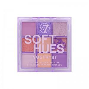 W7 - Lidschattenpalette - SOFT HUES Pressed Pigment Palette - Amethyst