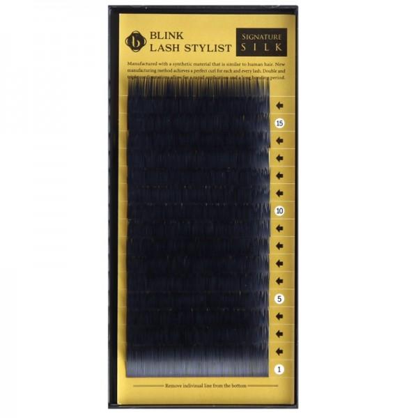 Schwarze Einzelwimpern - Silk Lashes - C-Curl - Durchmesser 0,15mm