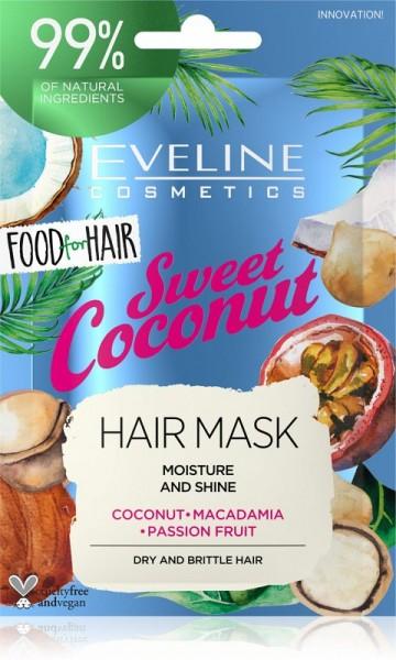 Eveline Cosmetics - Haarmaske - Food For Hair Sweet Coconut Haarmaske 20ml