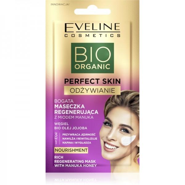 Eveline Cosmetics - Gesichtsmaske - Bio Organic - Perfect Skin Nährstoffreiche Regenerationsmaske -