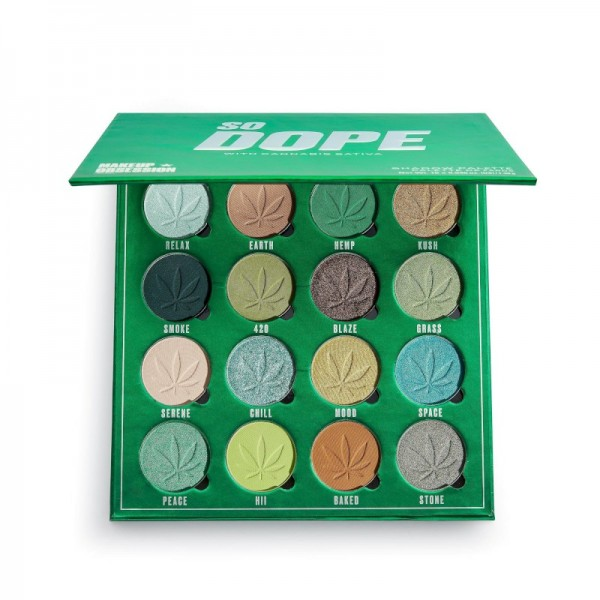 Makeup Obsession - Lidschattenpalette - So Dope Shadow Palette with Cannabis Sativa