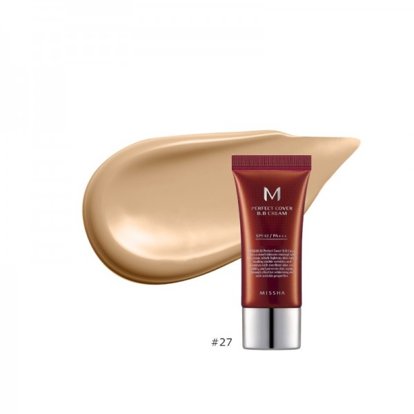 MISSHA - BB Cream - M Perfect Cover BB Cream - SPF42 - No.27/Honey Beige - 20ml